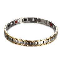 Wholesale infrared bracelet resale online - New Fashion Punk Health Bracelets Infrared Germanium Magnetic Power Stainless Steel Charm Bracelet for Woman Man Charm Bracelet Jewelry Gift