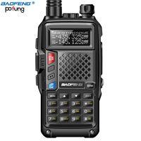 walkie talkie vhf baofeng venda por atacado-BF-UVB3 Baofeng Walkie Talkie PLUS 5W alta potência UHF VHF Dual Band 10KM Long Range Thickenbattery Walkie Talkie múltipla modo de carregamento