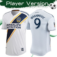 Wholesale soccer player ibrahimovic jersey for sale - Group buy Player version MLS Los Angeles Galaxy Home Soccer Jerseys IBRAHIMOVIC Football Shirt Galaxy FC Football Uniforms Sales
