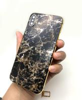 boite arrière pour iphone 24k achat en gros de-Cadre central en édition limitée plaqué or 24K + marbre avec boîtier arrière avec tous les boutons latéraux Compatible pour iPhoneX DHL Envoi gratuit!