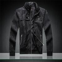 örgü moda trendi toptan satış-2019 sıcak satış sonbahar moda trendi erkek ekose lüks ceket marka tasarımcı erkek ceket oluşturmak için büyük boy M-3XL