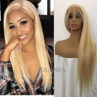 Wholesale hair braiding hairstyles for sale - Group buy 613 blonde full lace wig human hair with baby hair Virgin hair bleached knots natural hairline braided lace front wig