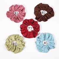 ingrosso ponytail in pelle-Estate Donne Ragazze Panno Anello elastico Fascini Accessori Ponytail Holder Fasce per capelli Elastici in gomma Scrunchies INS Stampa in pelle artificiale