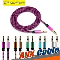 iphone'lar toptan satış-3.5 mm Jack Aux Ses Kablosu Erkek-Erkek Araba Aux Kablosu Altın Kaplama Yardımcı Kablo Araba / iPhone / Medya Oynatıcıları
