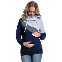 798d5b573 Mamás suéter de enfermería madre hogar ropa Casual Patchwork multifuncional  sudadera Pulloves mujeres con capucha sudaderas con capucha lactancia  materna ...