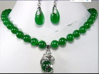 Wholesale beautiful copper pendants for sale - Group buy jewelry hot sell new Fast SHIPPINGFashion Jewelry beautiful mm green jade earring dragon pendant Necklace
