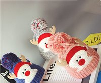 Wholesale baby knitted cowboy hats for sale - Group buy Hot Sale and Brand New Fashion Santa Claus Knitted Baby Hat Long Tail Elf Autumn Winter Wrap Warm Hat