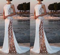robes de soirée en dentelle femmes achat en gros de-2019 Mode dentelle blanche de demoiselle d'honneur robe de bal femmes robe de bal Soirée officielle Lady Summer Long Maxi Dress Lot