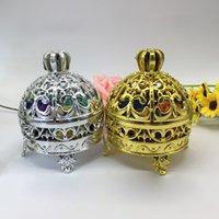 caixas em forma de coroa venda por atacado-Coroa de prata de ouro em forma de caixa de Chocolate Candy caixa de presente de casamento de plástico caixas de chá de bebê caixa de favor de aniversário