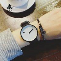 Wholesale dots wristwatch resale online - 2019 Minimalist style creative wristwatches BGG black white new design Dot and Line simple stylish quartz fashion watches