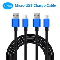 paquete de plomo al por mayor-Cable de carga micro USB de Soundfox para Sony PlayStation PS4 Cables de carga Gamepad Gamepad Joy-con Cable de carga Cable para Xbox One 2 paquetes