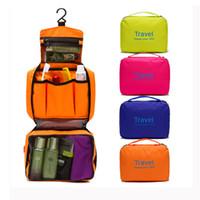 çantaları kapat toptan satış-Organayzer Yukarı Yıkama Bag 6 Renkler olun Asma Kadınlar Seyahat Taşınabilir Kozmetik Çanta Erkekler Tuvalet Çanta Banyo