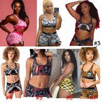 Hot Sale Women Swimsuit Leopard Summer Swimwear Tank Vest Crop Top Swimming Shorts Trunk Two Piece Bikinis Set Beachwear Clothing D42001