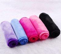 textiles de serviettes achat en gros de-40 * 17 cm Maquillage Serviette Réutilisable Microfibre Femmes Facial Tissu Magique Serviette De Visage Remover Maquillage Nettoyage de La Peau Lavage Serviettes Textiles GGA2664