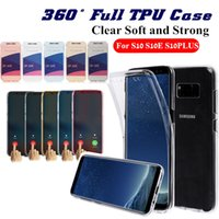 Wholesale 360 Full Case For Samsung S10 Plus J6 A7 Note9 Iphone XR XS MAX Soft TPU Clear Silicone Cover