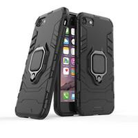porta-telemóveis venda por atacado-Armor à prova de choque phone case para iphone x xs max xr plus pc + tpu capa para samsung s10 huawei p30 pro lite com suporte do anel