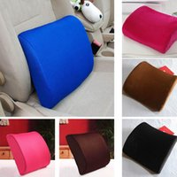 Wholesale chairs for massage for sale - Group buy Soft Memory Foam Lumbar Pillow Support Back Massage Waist Cushion For Chairs in the Car Seat Pillows Home Office Relieve Pain