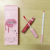 Wholesale kylie lip for sale - Group buy kylie pink edtion Professional High quality Makeup Matte Lip Goss Lip Pencil Waterproof without Fading Epacket