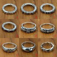 Wholesale antique rings resale online - new sterling silver jewelry vintage style antique silver hand made designer band rings crosses K5660