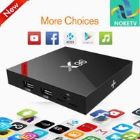 türkische tv-box großhandel-1 jahre Französisch Arabisch Türkisch Deutschland Belgien IPTV NOKE Code X96W Smart TV Box Android 7.1 Amlogic S905W 1G / 8G HD 4 Karat Set Andriod tv Box