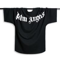schläger tee großhandel-Palm Angels T-shirt Männer Frauen Fledermaus Ärmel t-shirt Harajuku t-shirt Hip hop Streetwear Marke Sommer Baumwolle Kleidung Gedruckt Tees Tops Mode