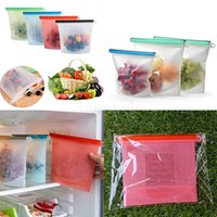1000ml Reusable Silicone Food Storage Bags | BEST forSandwich, Liquid, Snack, Lunch, Fruit, Freezer Airtight Seal dc681