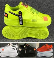 ingrosso scarpe aeree nere-NIKE AIR FORCE 1 Calda vendita Calassis impermeabile Air Skateboard scarpe sportive bianco nero verde arancione 4 colori opzionale Coppia skate sneaker formato EUR36-45