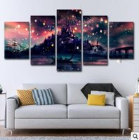 Wholesale wall beds more online - Wall Art Canvas Pictures Panels Modern Hogwarts No Frame Painting Canvas Art Wall Picture For Bed Room Unframed Magic