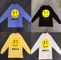 kanye west t-shirt stil großhandel-2019 NEUES KANYE WEST CPFM W.W.C.D Lächeln Druck Männer Frauen T-shirt Sommer Stil T shirts Hip Hop Streetwear Baumwoll T 15 Stil