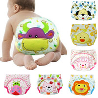 Wholesale hot girls baby diapers resale online - Hot Sell Potty Training Nappies Baby Boy Girl Diaper Mesh Breathable Reusable Pantie Baby Cotton Training Pants