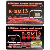 Wholesale iphone original unlock sim for sale - Original RSIM13 R SIM Smart Activation unlock sim card for ios12 rsim13 card iccid unlocking for iPhone Max XR X IOS12 GSM