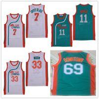 67cb90e21e2 Wholesale #69 Downtown #7 Coffee Black Jersey #33 Jackie Moon #11 ED Monix  Mens Semi Pro Movie Flint Tropics Basketball Jerseys Stitched