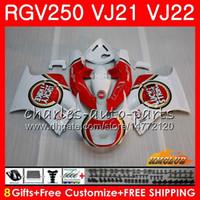 Wholesale fairing 1989 resale online - Bodys For SUZUKI RGV250 VJ21 lucky red white SAPC Frame HC RGV RGV VJ22 Fairing