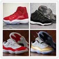 gamma 11 qualidade superior venda por atacado-NIKE Air Jordan 11 Retro Fibra real do carbono 11 11s 2019 New Bred Concord Gamma Blue Platinum Tint 72-10 tênis de basquete Homens Mulheres Top Quality Sneakers OP26