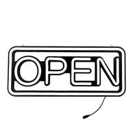 restaurante abierto luz de neón al por mayor-Ultra Diseñador luz blanca brillante Señal de neón de color del LED abierta para Publicidad del escaparate, negocios, oficina, tienda elegante restaurante de visualización de la ventana