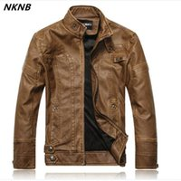 Wholesale faux leather suede jacket resale online - Men faux Leather Suede Jacket Fashion Autumn Motorcycle PU Leather Male Winter Bomber Jackets Outerwear Faux Coat