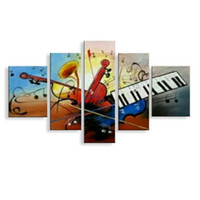 Wholesale musical paintings art for sale - wall decor oil painting modern oil painting on canvas abstract painting Musical Instruments art cheap modern paintings SS