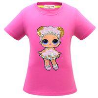 gömlekler yeni stiller resimler toptan satış-Yeni stiller lol Kız görüntü T-shirt% 100% pamuk kısa kollu çevirme pul T-shirt kaliteli 4 renkler Ücretsiz kargo