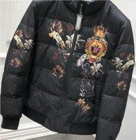 ingrosso inverno famosi uomini di marca di abbigliamento-2019 primavera 19ss corona reale famoso marchio di stilista stampa cappotto giù abbigliamento invernale per uomo moda giacche caldo