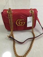 Wholesale folding designer handbags resale online - A2 Hot Sale Fashion Women Shoulder G Bag Chain Messenger Bag High Quality Handbags Wallet Purse Designer Cosmetic Bags C