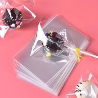 saco de doces transparente venda por atacado-Transparente Opp Sacos De Plástico para Doces Pirulito Embalagem De Biscoito Saco De Celofane Wedding Party Gift Bag 100 pçs / saco