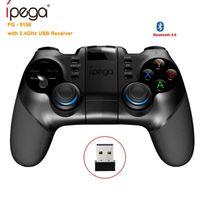 android için usb gamepad toptan satış-IPEGA PG-9156 Kablosuz Gamepad Bluetooth Joystick Telefon Oyun Denetleyicisi Ile 2.4 GHz USB Alıcı Için Ios Android Smartphone PC Oyun Konsolu