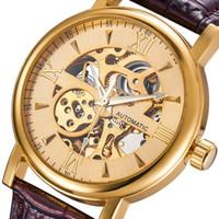 смотреть мужчин оптовых-Наручные часы высокого качества Роскошные автоматические механические деловые повседневные мужские часы мужские часы