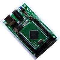 tableros de microcontroladores al por mayor-Placa de desarrollo ATMEGA128 AVR microcontrolador placa del sistema pequeño núcleo de desarrollo de aprendizaje