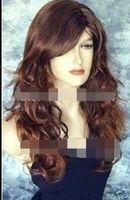 ingrosso parrucca ondulata ondulata-WIG LL 0083 new WIGs HAIR FULL WAVY auburn BROWN LONG WIGS