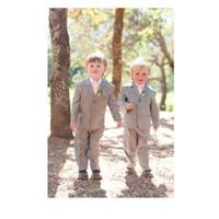 Wholesale images boy rings resale online - Little Boys Suits for Wedding Celebration Notched Lapel Formalr Kids Tuxedos Ring Bearer Suits Piece Jacket Pants Vest