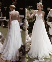 Wholesale wedding dresses turkey for sale - Group buy Illusion Bodice Backless Beach Wedding Dress New Design Princess Wedding Dresses Turkey Sexy Deep V neck Lace Wedding Dress For Cheap