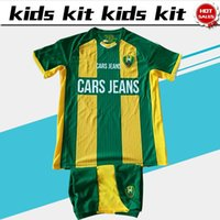 Wholesale print kits for sale - Group buy 2020 Kids Kit ADO Den Haag Home Boys soccer Jerseys Child Suit ADO home football uniforms jersey shorts cannot print