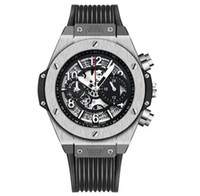 correia mecânica venda por atacado-Novos homens de luxo relógio esqueleto cinto de borracha à prova d 'água relógios mecânicos automáticos moda esportes mens relógios reloj