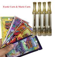nuvem do ego venda por atacado-Holograma Mario Carts Cartuchos Exotic AC1003 Gold 1.0ml Cartucho Vape com Logo não Leak Cearamic Coil 510 cartuchos para óleo grosso